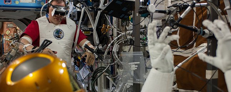 NASA astronauts performed the first teleoperation of a humanoid robot with PTI's VZ4050 Tracker!